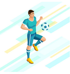 isometrics soccer player on a beautiful background vector image