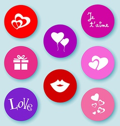Love web buttons-flat vector image