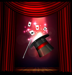Magic show poster design template magic show vector