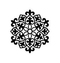 Mandala pattern stencil doodles sketch vector