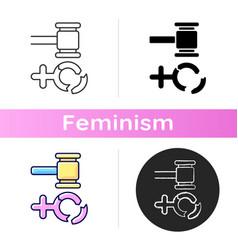 misogyny icon vector image