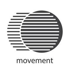 Movement glyph icon vector