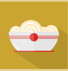 noodles icon set of great flat icons with style vector image