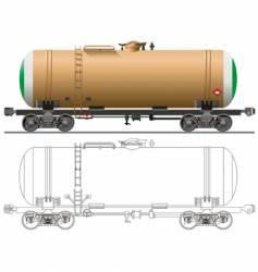 Oil gasoline tanker car vector