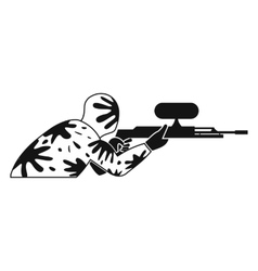 Paintball player simple icon vector image