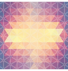 pattern geometric Background with triangles vector image