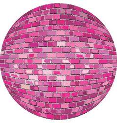 Pink brick ball vector