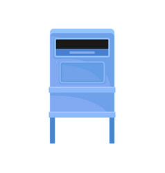 public mailbox on legs street postbox blue metal vector image