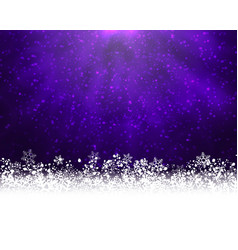 purple winter backround vector image