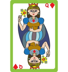 Queen diamonds vector