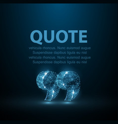 quote abstract modern blank speech bubble with vector image