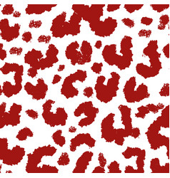 repeatable red leopard print pattern or print vector image