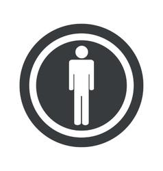 Round black man sign vector image