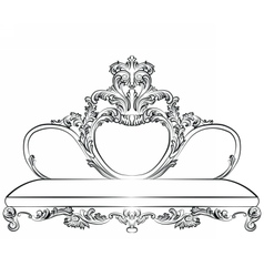 Royal sofa in baroque style vector