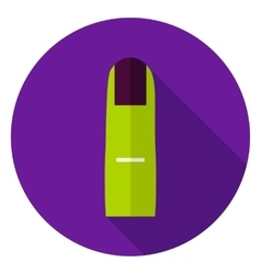 Scary Finger Circle Icon vector image