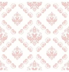 Seamless damask pattern vector