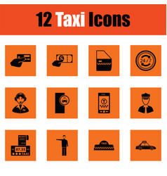 set of taxy icons vector image