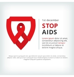 Stop aids flat symbol icon vector