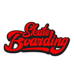 Stylish calligraphic inscription - skateboarding vector
