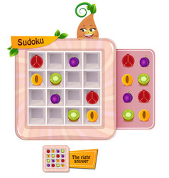 Sudoku game fruits vector