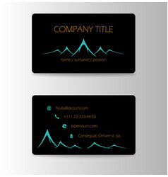 Vintage summer camping business card mountain vector