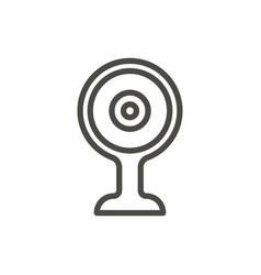 web camera icon line video camera symbol vector image