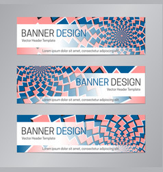 Web header design blue red banner template vector