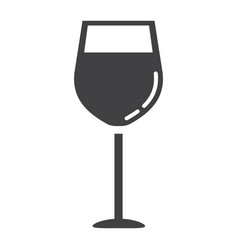 wine glass glyph icon food and drink alcohol vector image