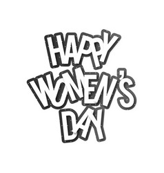 womens day typography with white background vector image