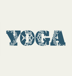 yoga word design vector image