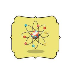 isolated atom inside frame design vector image vector image