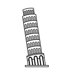 piza tower isolated icon vector image