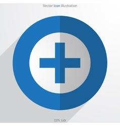 plus web flat icon vector image vector image