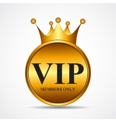 VIP Members Only Gold Sign Label Template vector image
