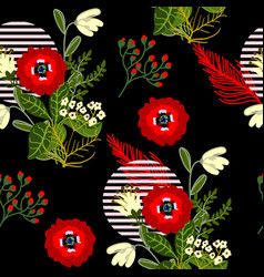 wild flowers seamless pattern for textile design vector image