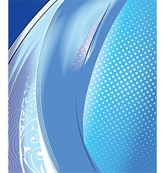 Abstract cold water vector image vector image