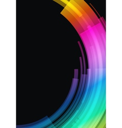 abstract retro technology circles vector image vector image