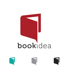 book idea icon design vector image