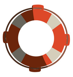 colorful flotation hoop with rope with half shadow vector image vector image