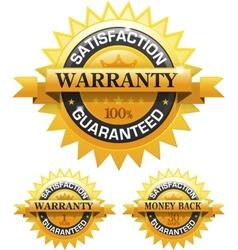 Customer satisfaction guaranteed gold badge vector image vector image