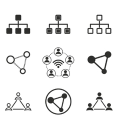 Network icon set vector image