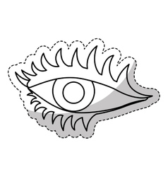 single eye icon image vector image