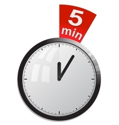 Timer 5 minutes vector image
