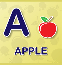 apple alphabet background vector image vector image