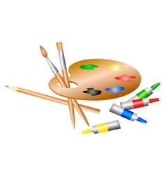 artists palette vector image vector image