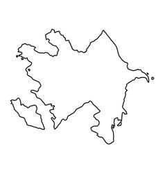azerbaijan map of black contour curves of vector image