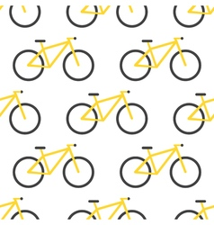 bicycle pattern Flat design vector image