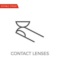 contact lenses icon vector image