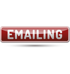 Emailing button vector