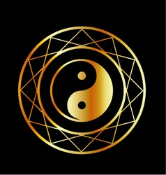 Golden symbol of Taoism Daoism vector image vector image